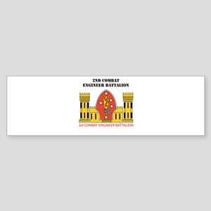2nd Combat Engineer Battalion with Text Sticker (B