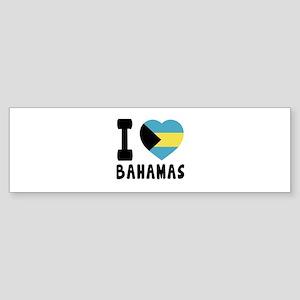 I Love Bahamas Sticker (Bumper)