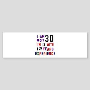 30 Birthday Designs Sticker (Bumper)