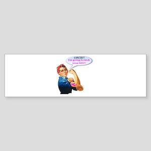 Rosie Fighting Cancer Design Bumper Sticker