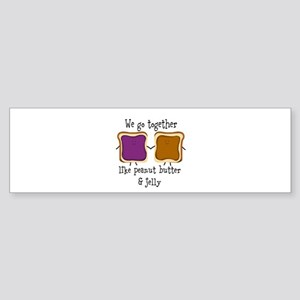 Peanut Butter and Jelly Bumper Sticker