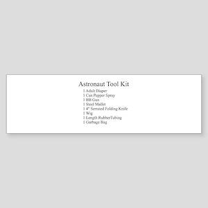 Astronaut Tool Kit Bumper Sticker
