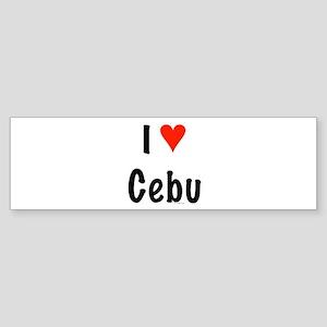 I love Cebu Bumper Sticker
