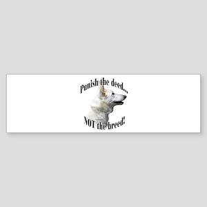GSD (white) Anti-BSL 3 Bumper Sticker