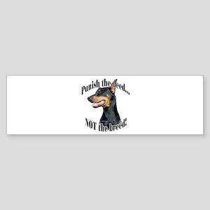 Doberman Anti-BSL 3 Bumper Sticker