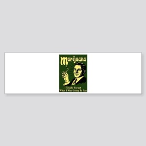 Marijuana 3 Bumper Sticker