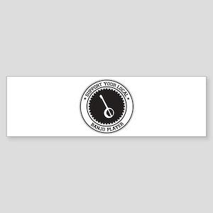 Support Banjo Player Bumper Sticker