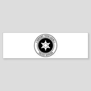 Support Police Officer Bumper Sticker