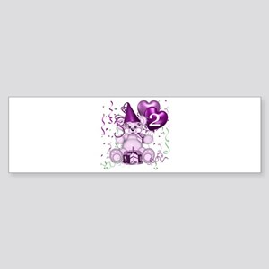 BIRTHDAY AGE: 2 (purple) Bumper Sticker