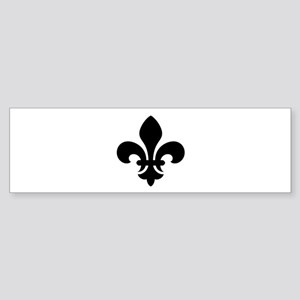 Black Fleur-de-Lys Bumper Sticker