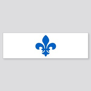 Blue Fleur-de-Lys Bumper Sticker
