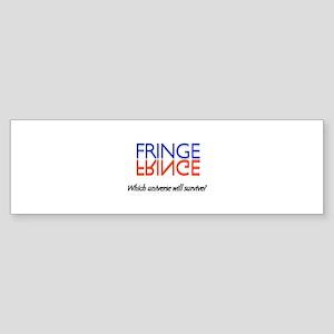Blue Red Fringe Which Universe? Sticker (Bumper)