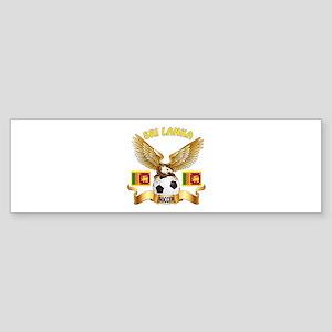 Sri Lanka Football Design Sticker (Bumper)