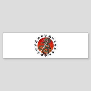 Dragon katana 2 Sticker (Bumper)