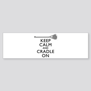 Keep Calm And Cradle On Bumper Sticker