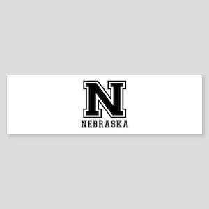 Nebraska State Designs Sticker (Bumper)