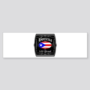 Boricua 100 Proof Sticker (Bumper)