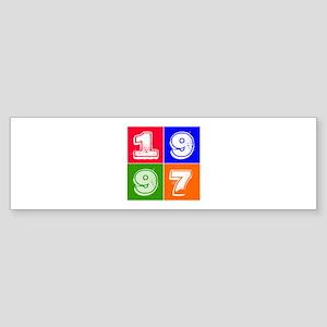 1997 Birthday Designs Sticker (Bumper)