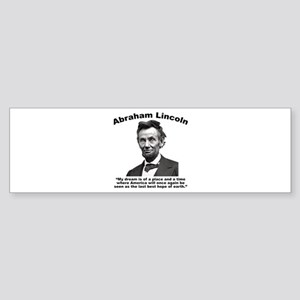 Lincoln: BestHope Sticker (Bumper)