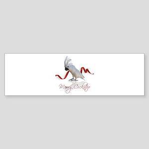 merry cockatoo Sticker (Bumper)