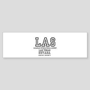 AIRPORT CODES - LAS - MCCARRAN, LAS Bumper Sticker