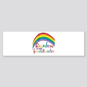 Rainbow Favorite Color Sticker (Bumper)