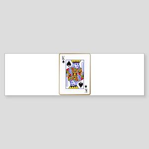 King Spades Bumper Sticker