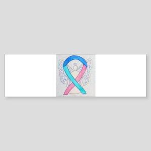 Thyroid Cancer Awareness Ribbon Bumper Sticker