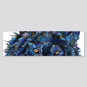 Wild Blue Wolf Sticker (Bumper)