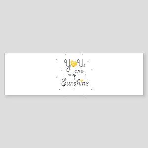 You are my sunshine - gold Bumper Sticker