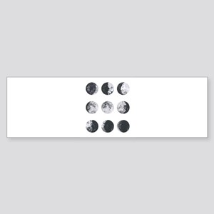Moon Phases Bumper Sticker