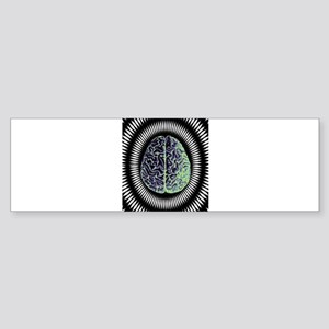 EDM Rave Brain Trippy Pop Art Psych Bumper Sticker