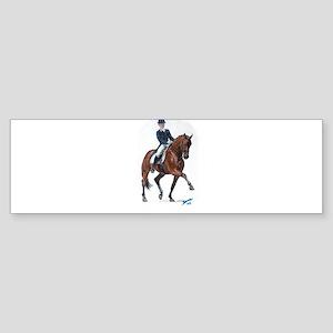 Dressage horse painting. Sticker (Bumper)
