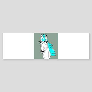 Hipster Unicorn Funny Humor Kawaii Bumper Sticker
