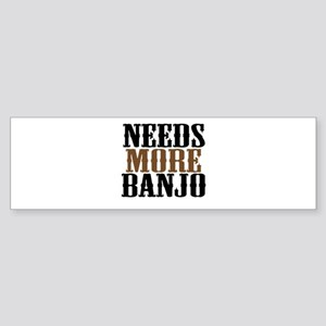 Needs More Banjo Sticker (Bumper)