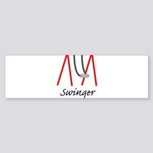 Swinging Swinger Bumper Sticker