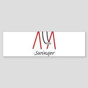Swinging Swinger Bumper Sticker