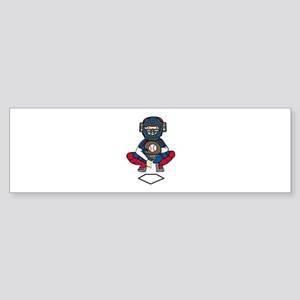 Baseball Catcher Bumper Sticker