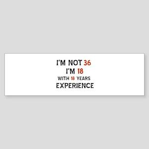 36 year old designs Sticker (Bumper)