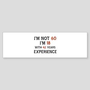 60 year old designs Sticker (Bumper)