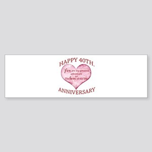 40th. Anniversary Bumper Sticker