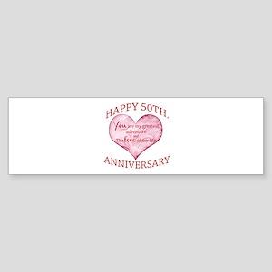 50th. Anniversary Bumper Sticker