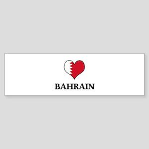 Bahrain heart Bumper Sticker