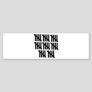 40th birthday Sticker (Bumper)