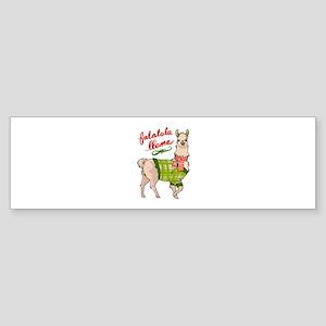 Falalala Llama Bumper Sticker