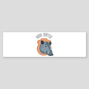 BOAR HUNTER Bumper Sticker