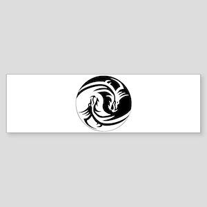 Yin Yang Dragon Bumper Sticker