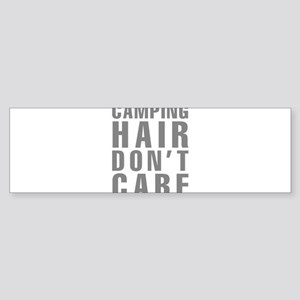 Camping Hair Don't Care Sticker (Bumper)