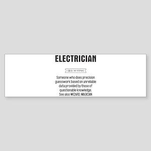Funny Electrician Definition Bumper Sticker