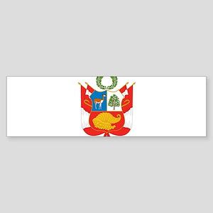 Peru Coat Of Arms Sticker (Bumper)